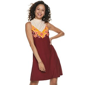Juniors' Mudd® Mock Neck Dress