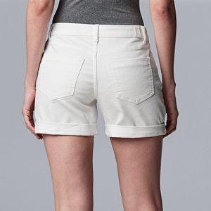 Women's Simply Vera Vera Wang Roll Cuff Shorts