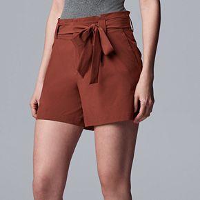 Women's Simply Vera Vera Wang Paperbag Waist Shorts