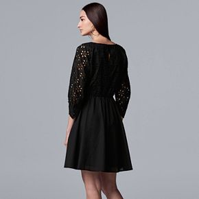 Women's Simply Vera Vera Wang Eyelet Lace Dress