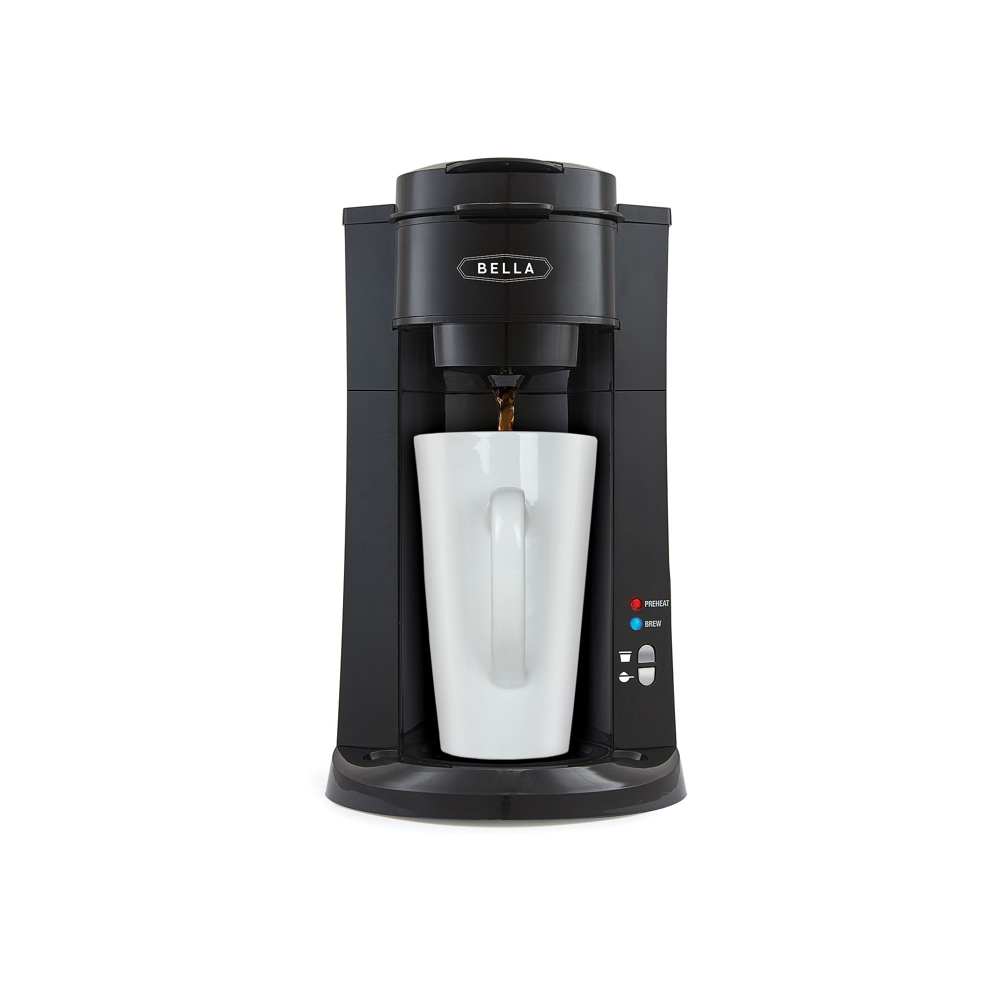 Bella Dual Brew Single-Serve Coffee Maker, Black