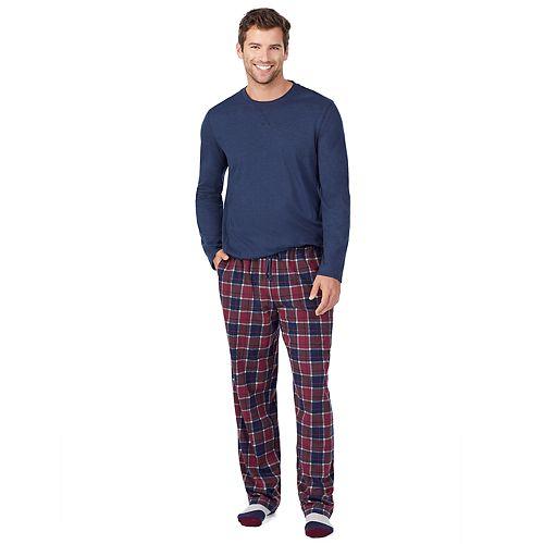 Big & Tall Cuddl Duds Classic Pajama Set with socks