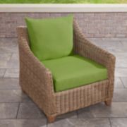 Terrasol Solid Deep Seat Chair Cushion and Back Set