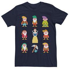 Men's Snow White and the Seven Dwarfs Pixel Tee