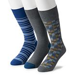 Men's Marc Anthony Abstract Stripe Crew Socks