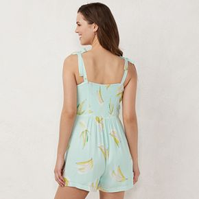 Women's Lauren Conrad Button Front Romper