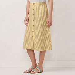 Women's LC Lauren Conrad Button Front Midi Skirt