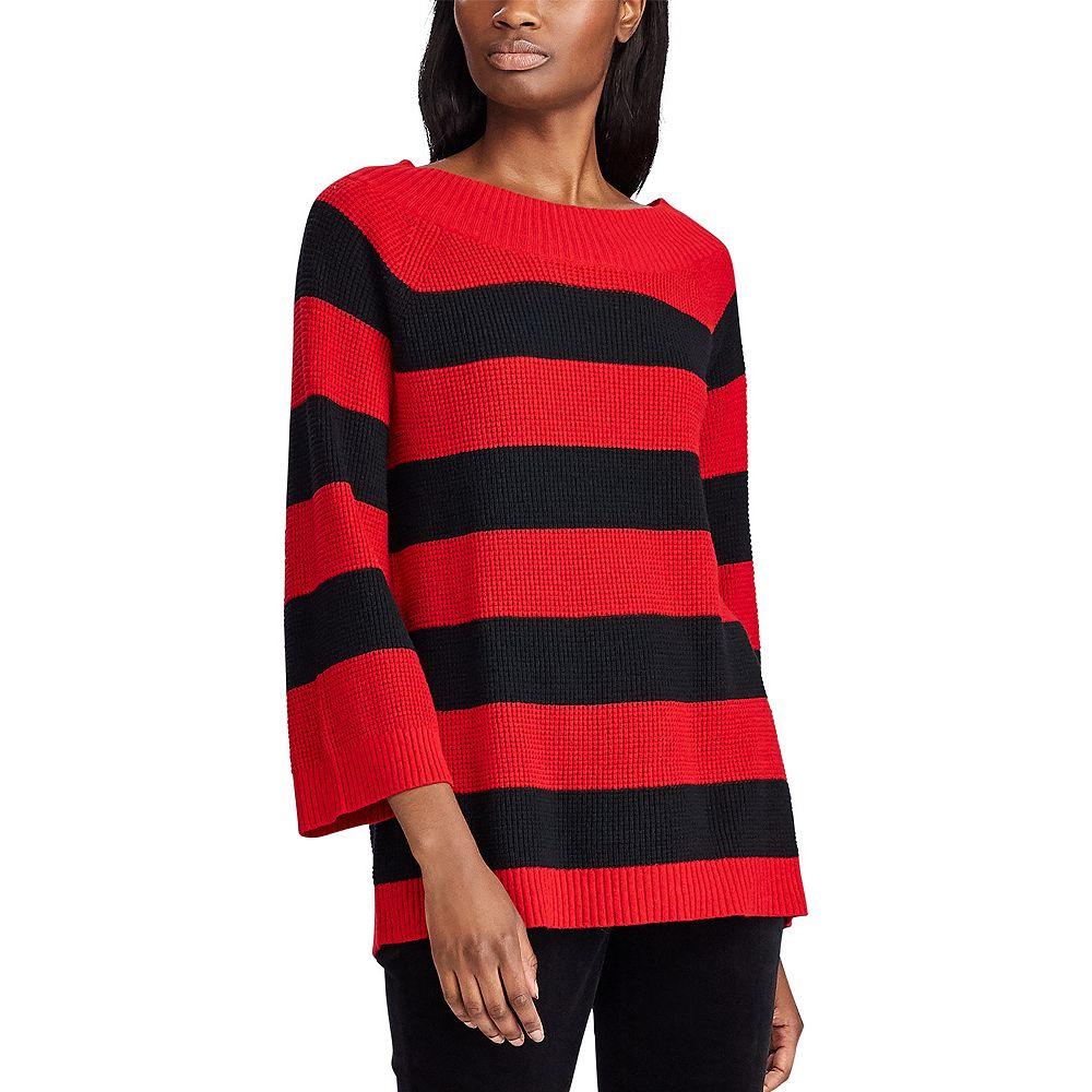 Women's Chaps Striped Flare-Sleeve Sweater