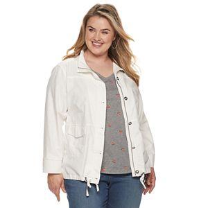 Plus Size Sonoma Goods For Life? Linen Utility Jacket