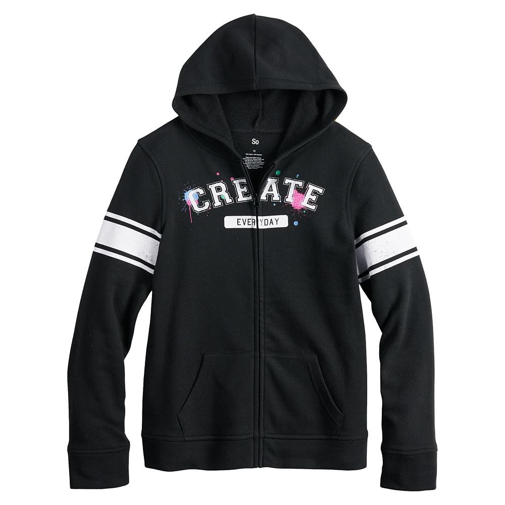 Girls 4-20 & Plus Size SO® French Terry Zip Hoodie