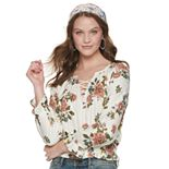 Juniors' American Rag Pintuck Peasant Top