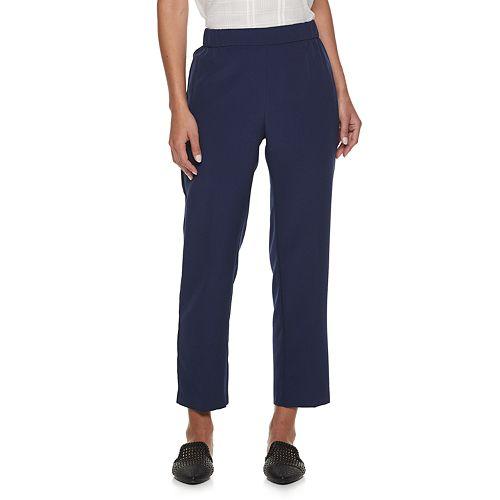 Women's ELLE™ Pull-On Mid-Rise Ankle Pants