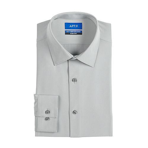 Men's Apt. 9® Slim-Fit Performance Dress Shirt
