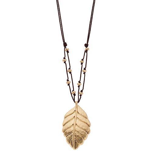 Bella Uno Leaf Pendant Necklace