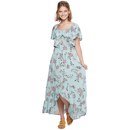 Juniors' American Rag Lampshade High-Low Maxi Dress