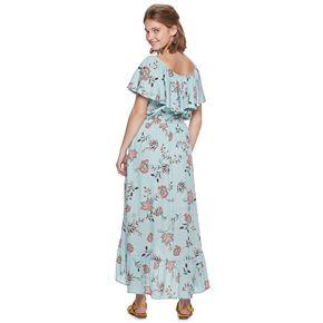 Juniors' American Rag Lampshade High-Low Maxi Dress