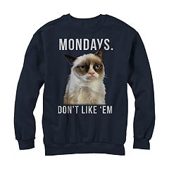 Men's Grumpy Cat Don't Like Mondays Sweatshirt