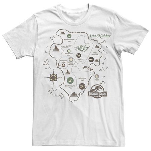 Men's Juric Park Isla Nublar Map Tee on azores map, nauru map, isla sorna dinosaur map, antigua map, greenland map, isla pena, guyana map,