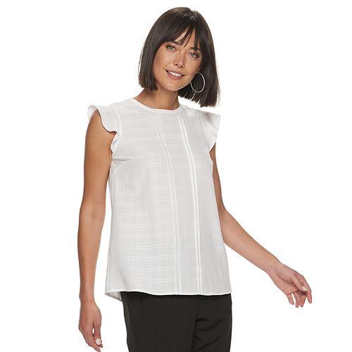 Women's ELLE™ Mini Pleat Blouse