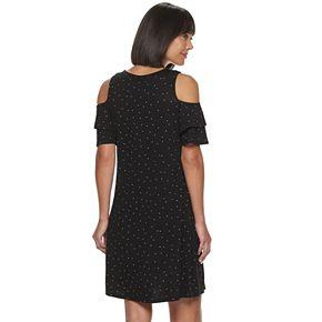 Women's ELLE? Double Ruffle Cold Shoulder Dress