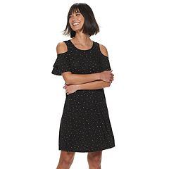 Women's ELLE™ Double Ruffle Cold Shoulder Dress