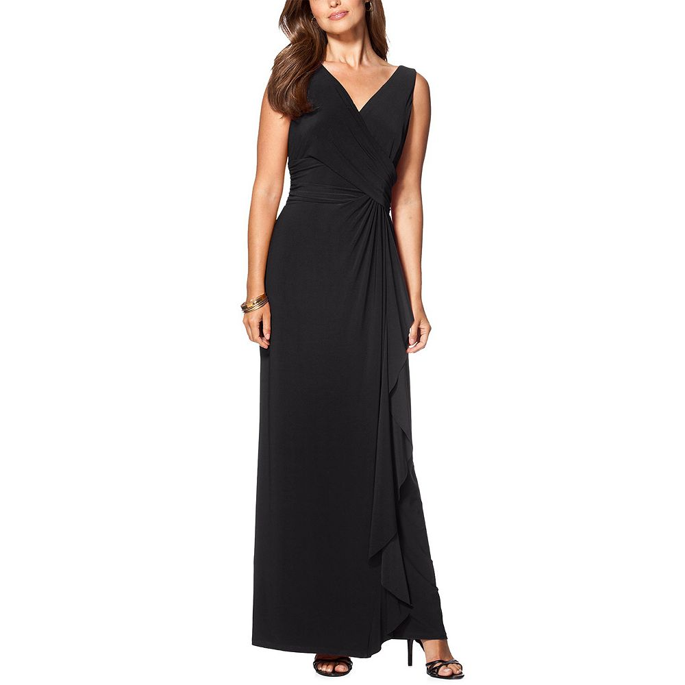 Women's Chaps Pleated Evening Dress