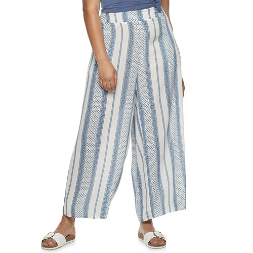 Juniors' Plus American Rag Front Tie Pants