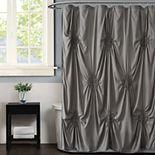 Christian Siriano Georgia Ruched Blush Shower Curtain