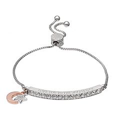 Brilliance 'Love You to the Moon & Back' Bar Bracelet with Swarovski Crystals