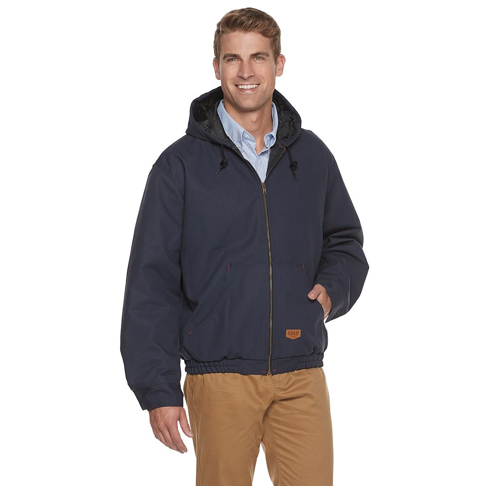 Men's Red Kap Blended Duck Zip-Front Hooded Jacket
