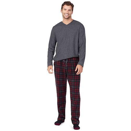 Men's Cuddl Duds Cabin Fleece Pajama Set