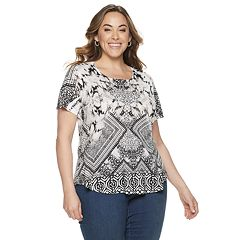 Plus Size World Unity Short Sleeve Scoopneck Tee