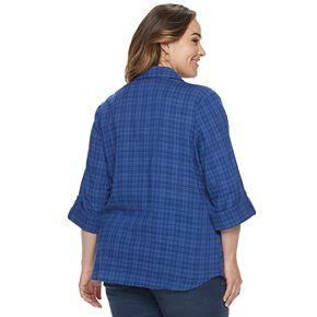 Women's Plus Size Croft & Barrow® Plaid Popover