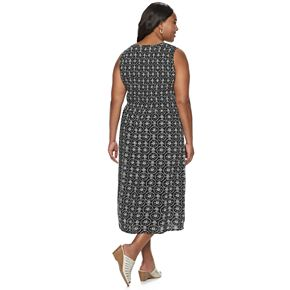 Plus Size Croft & Barrow Print Challis Midi Dress