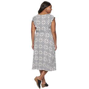 Plus Size Croft & Barrow® Sleeveless Flutter Dress