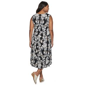 Plus Size Croft & Barrow® Sleeveless V-Neck Dress