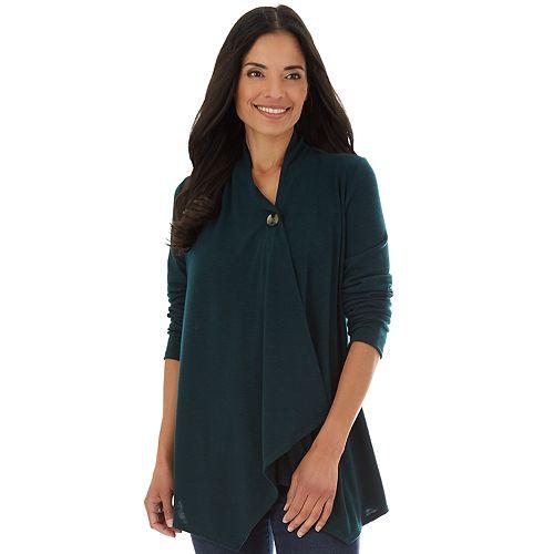 Women's Apt. 9® Hachi Long Sleeve Button Wrap Cardigan