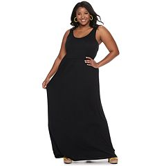 Juniors SO® Plus Scoop Neck Tank Maxi Dress