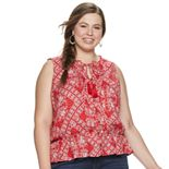 Juniors' Plus American Rag Sleeveless Peasant Tank Top