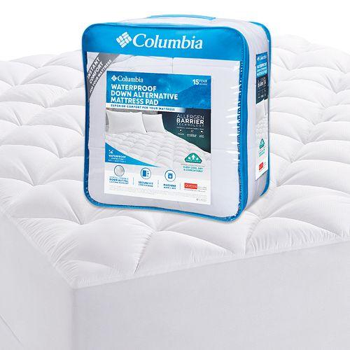 Columbia Waterproof Down-Alternative Mattress Pad