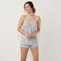 Women's LC Lauren Conrad Lace Sleep Cami & Pajama Shorts Set