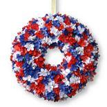 National Tree Company 14-in. Patriotic Artificial Hydrangea Wreath