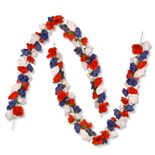 National Tree Company 2-pc. 6-ft. Patriotic Artificial Rose Garland Set