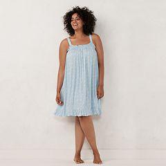 Plus Size LC Lauren Conrad Ruffled Sleepshirt