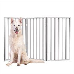 PetMaker Tall Foldable 3-Panel Wood Pet Gate