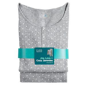 Women's Croft & Barrow® Textured Henley & Pajama Pants Set