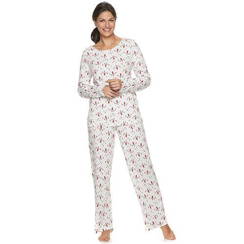 Women's Petite Croft & Barrow® Knit Henley Pajama Set