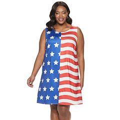 1411d8d99de1 Plus Size Apt. 9® Americana Swing Dress