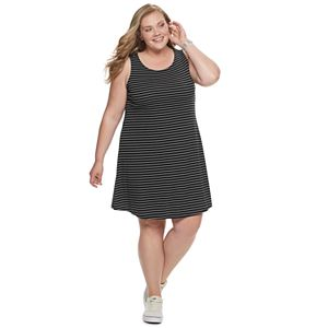 3c865d2c07 Plus Size EVRI Knot Back Swing Dress