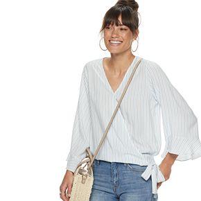 Women's POPSUGAR Ruffle Sleeve Wrap Top